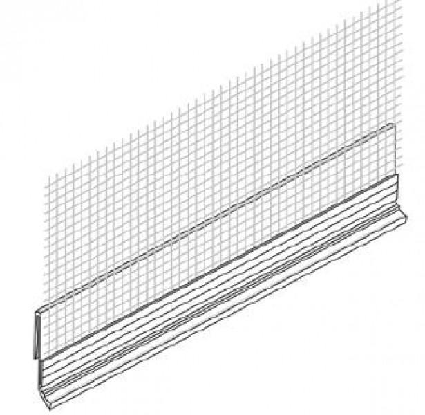 Photo 1 Profilé blanc avec trame Pour une épaisseur d'enduit uniforme Recouvrement avec la trame de façade Application du sous enduit et de l'enduit de finition Longueur : 250 cm Conditionnement : 20 pièces par carton - Baukom