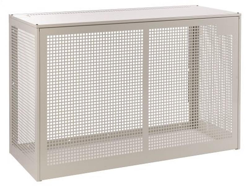 Photo 1 Cage de protection en acier electro-galvanisé  peinture époxy (RAL9002) dimensions 1150 x 1150 x 650 - Cooleo
