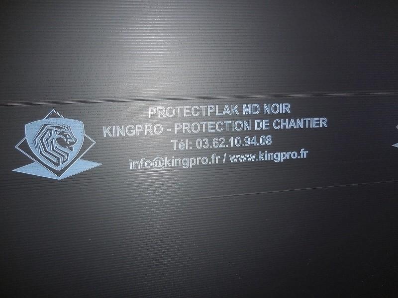 Photo 1 Plaque de protection pour tous vos travaux - prévention contre les chocs moyens sur chantier Plaque de 3mm d'épaisseur par 1.20m de large et 2.40m de long Flexible, léger et rapide à mettre en oeuvre - KINGPRO