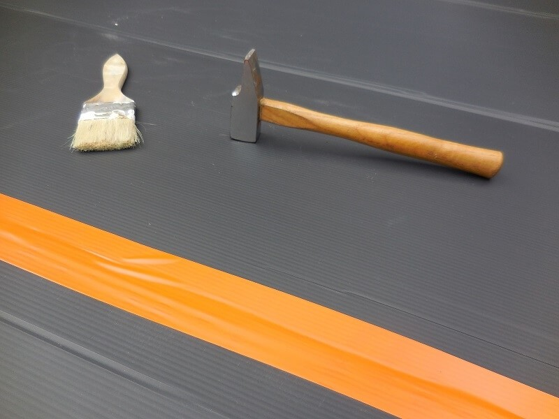 Photo 4 Plaque de protection pour tous vos travaux - prévention contre les chocs moyens sur chantier Plaque de 3mm d'épaisseur par 1.20m de large et 2.40m de long Flexible, léger et rapide à mettre en oeuvre - KINGPRO
