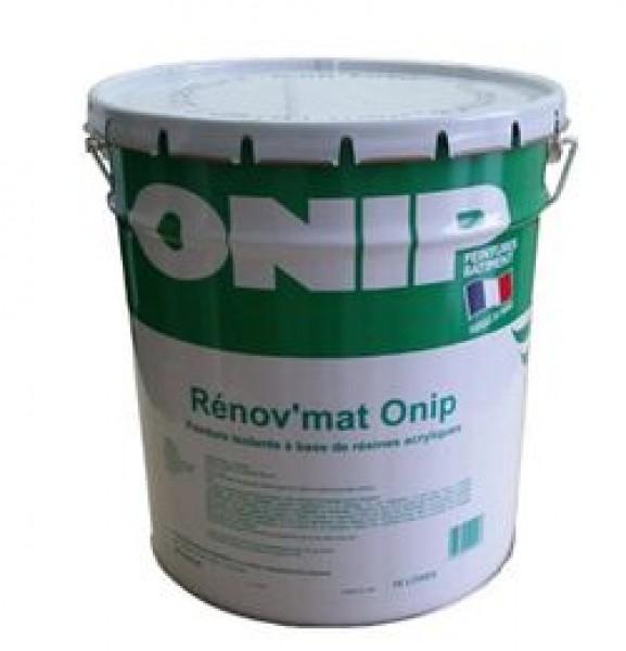 Photo 1 Renov'Mat Onip est une peinture isolante à base de résines acryliques en phase aqueuse. Certifiée NF Environnement - ONIP