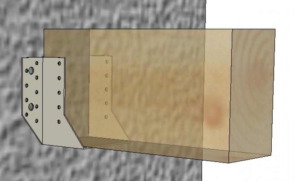 Photo 3 Carton de 50 sabots à ailes extérieures de 76 x 752 sur 2 mm d'épaisseur. Galva 20 µm. Agrées par les organismes de contrôle technique du bâtiment (ATE), ils remplacent efficacement les assemblages traditionnels à tenons et mortaise. - ALSAFIX