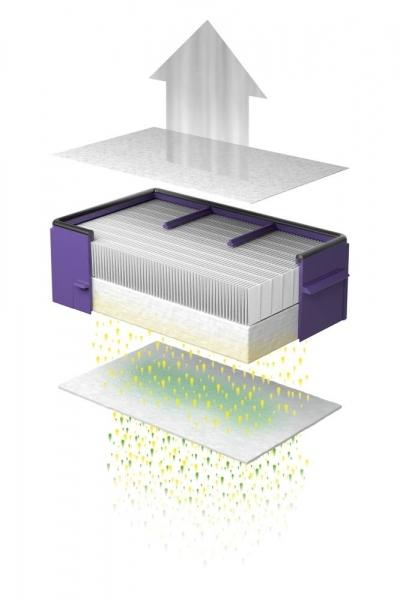 Photo 4 Le sèche-mains Dyson Airblade dB propulse des lames d'air qui circulent à 690 km/h. Elles balaient l'eau simultanément de la paume et du dos des mains, pour un séchage en seulement 10 secondes. Certifié pour une utilisation dans le secteur agroalimentaire par HACCP International. Un filtre HEPA capture 99,9 % des particules de la taille d'une bactérie. Fonctionnement sans contact. Coûts de fonctionnement faibles. Faible empreinte carbone. 5 ans de garantie. - DYSON