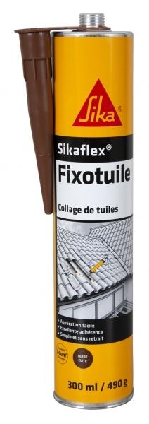 Photo 1 Le Sikaflex® Fixotuile® est un mastic-colle mono composant à base de polyuréthanne, spécialement adapté au collage souple des tuiles à l'extérieur. - SIKA FRANCE