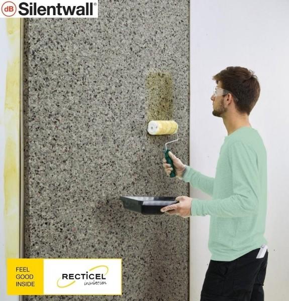 Photo 3 Le Silentwall® est un panneau de mousses de polyuréthane agglomérées et fibres pour l'amélioration de l'isolation thermique et acoustique des murs intérieurs des habitations. Le Silentwall® est un produit conçu pour améliorer l'isolation acoustique intérieure (côté intérieur des murs périphériques); Dimensions disponibles (mm) : 40 x 1200 x 600 / 40 x 2500 x 600 / 40 x 2600 x 1200 - RECTICEL