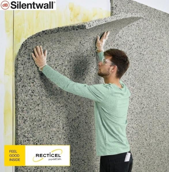 Photo 2 Le Silentwall® est un panneau de mousses de polyuréthane agglomérées et fibres pour l'amélioration de l'isolation thermique et acoustique des murs intérieurs des habitations. Le Silentwall® est un produit conçu pour améliorer l'isolation acoustique intérieure (côté intérieur des murs périphériques); Dimensions disponibles (mm) : 40 x 1200 x 600 / 40 x 2500 x 600 / 40 x 2600 x 1200 - RECTICEL