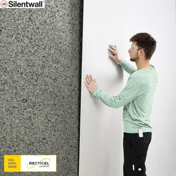 Photo 4 Le Silentwall® est un panneau de mousses de polyuréthane agglomérées et fibres pour l'amélioration de l'isolation thermique et acoustique des murs intérieurs des habitations. Le Silentwall® est un produit conçu pour améliorer l'isolation acoustique intérieure (côté intérieur des murs périphériques); Dimensions disponibles (mm) : 40 x 1200 x 600 / 40 x 2500 x 600 / 40 x 2600 x 1200 - RECTICEL