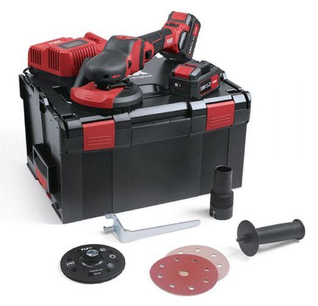 Photo 1 SUPRAFLEX sans fil 18,0 V, spécialiste du ponçage pour surfaces laquées, bois, pierre et métal SE 125 18.0-EC/5.0 Set - FLEX FEMA SAS