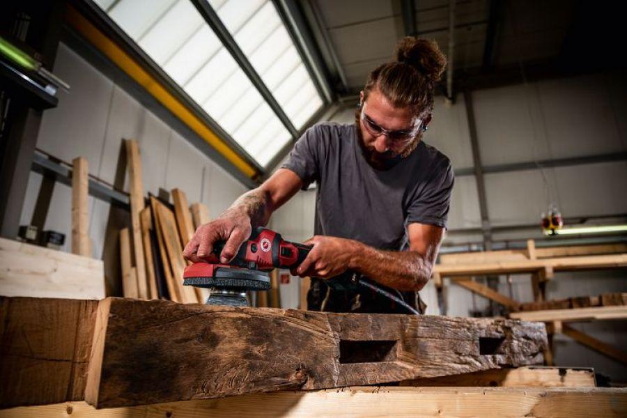 Photo 3 SUPRAFLEX sans fil 18,0 V, spécialiste du ponçage pour surfaces laquées, bois, pierre et métal SE 125 18.0-EC/5.0 Set - FLEX FEMA SAS