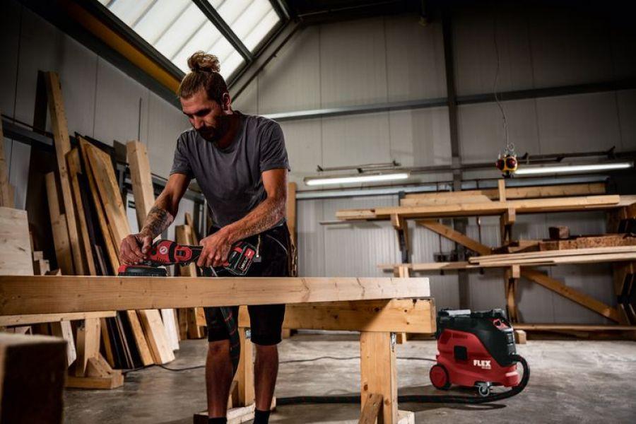 Photo 4 SUPRAFLEX sans fil 18,0 V, spécialiste du ponçage pour surfaces laquées, bois, pierre et métal SE 125 18.0-EC/5.0 Set - FLEX FEMA SAS