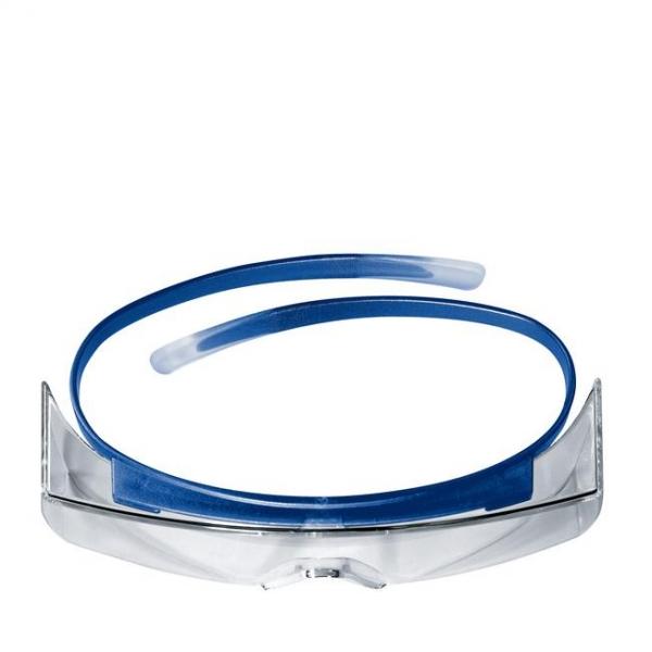 Photo 3 Les surlunettes uvex super OTG sont idéales pour les porteurs de lunettes de vue : les branches complétement flexibles peuvent se placer juste au-dessus des branches des lunettes et évitent tout inconfort. Les yeux sont parfaitement protégés grâce à l'oculaire panoramique et aux protections latérales intégrées. Conçues en polycarbonate avec technologie haute résolution, elles offrent une excellent qualité de vision minimisant les effets d'optique dus à la superposition des oculaires. - uvex