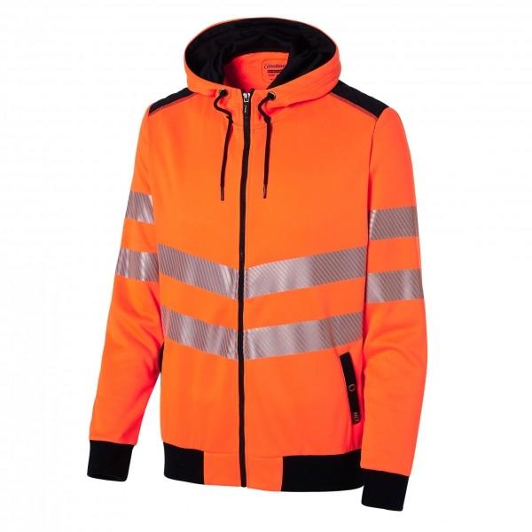 Photo 2 Look sportswear et sécurité optimale avec ce sweat à capuche haute visibilité normé EN2471. Les bandes segmentées apportent de la souplesse et de la liberté dans les mouvements. De plus ce sweat est très agréable au porté par son molleton gratté à l'intérieur. - Molinel