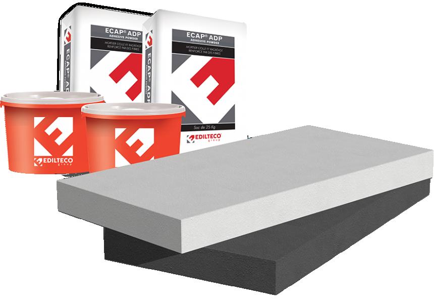 Photo 1 Le Système EDIL-Therm® est un procédé d'Isolation Thermique par l'Extérieur (ITE) proposé avec le choix de 2 isolants certifiés ACERMI : le polystyrène (PSE) ou la Laine de Roche. Une couche de base armée et une finition sont appliquées pour parfaire l'esthétique et la personnalisation des murs. EDIL-Therm s'emploie pour les constructions neuves comme pour les rénovations.  EDIL-Therm® PSE et Laine de Roche permettent d'atteindre une performance thermique élevée. - EDILTECO FRANCE
