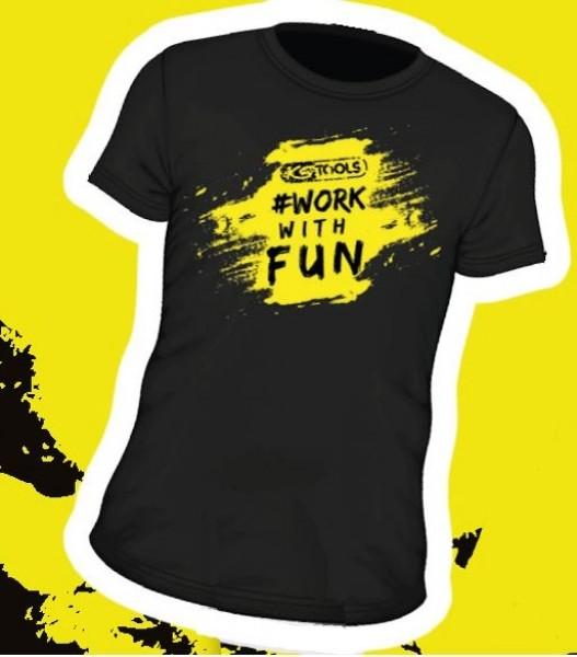 Photo 1 T-shirt KS Tools #workwithfun / Noir - Jaune fluo / Taille L - KSTOOLS