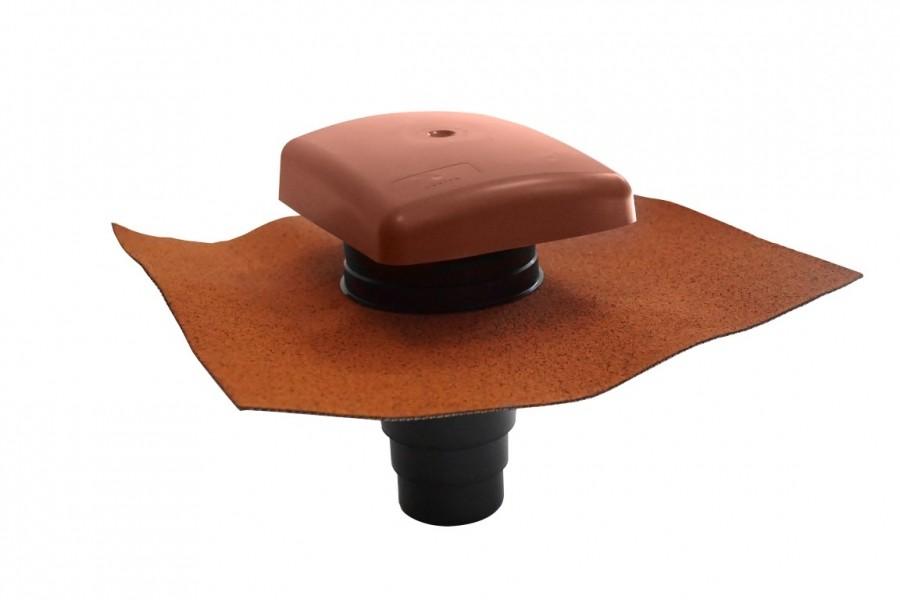Photo 2 Le terminal Ubiflu 2 dispose d'un adaptateur Multidiam permettant de nombreuses application grâce à différents diamètres : ventilation de chute, évacuation des hottes de cuisine ou encore VMC simple et double-flux.  Matériaux : chapeau en Styrosun, corps PVC.U.  Existe en coloris anthracite, brun, rouge ou pour toit ardoise. - UBBINK FRANCE
