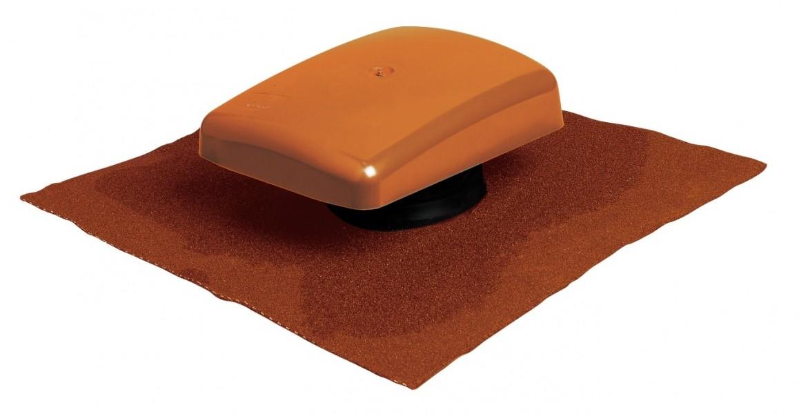 Photo 3 Le terminal Ubiflu 2 dispose d'un adaptateur Multidiam permettant de nombreuses application grâce à différents diamètres : ventilation de chute, évacuation des hottes de cuisine ou encore VMC simple et double-flux.  Matériaux : chapeau en Styrosun, corps PVC.U.  Existe en coloris anthracite, brun, rouge ou pour toit ardoise. - UBBINK FRANCE