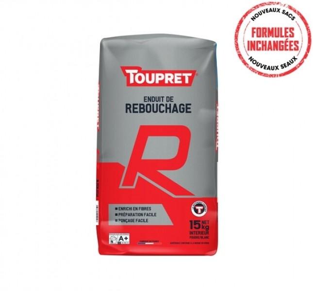 Photo 1 Toupret R est un enduit de rebouchage en poudre, intérieur, pour application manuelle. Toupret R s'applique sur supports neufs ou rénovés, bruts ou peints et est recouvrable par tous types d'enduits, peintures et revêtements muraux - Toupret