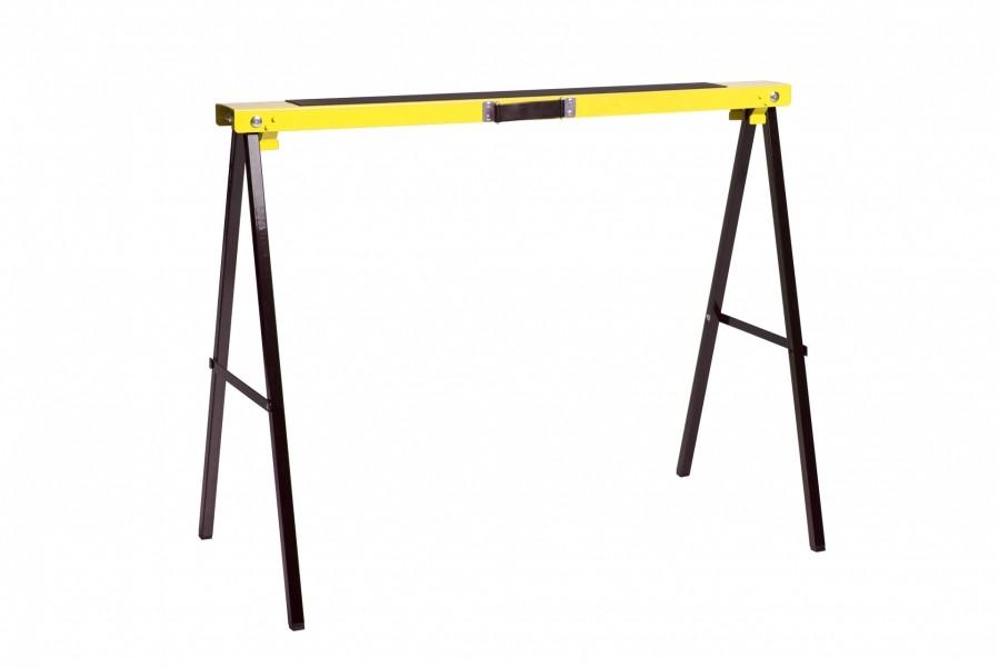 Photo 1 Ces tréteaux en métal, sont dotés d'un revêtement anti-dérapant sur la traverse supérieure pour un réel confort d'usage. - Nordlinger Pro