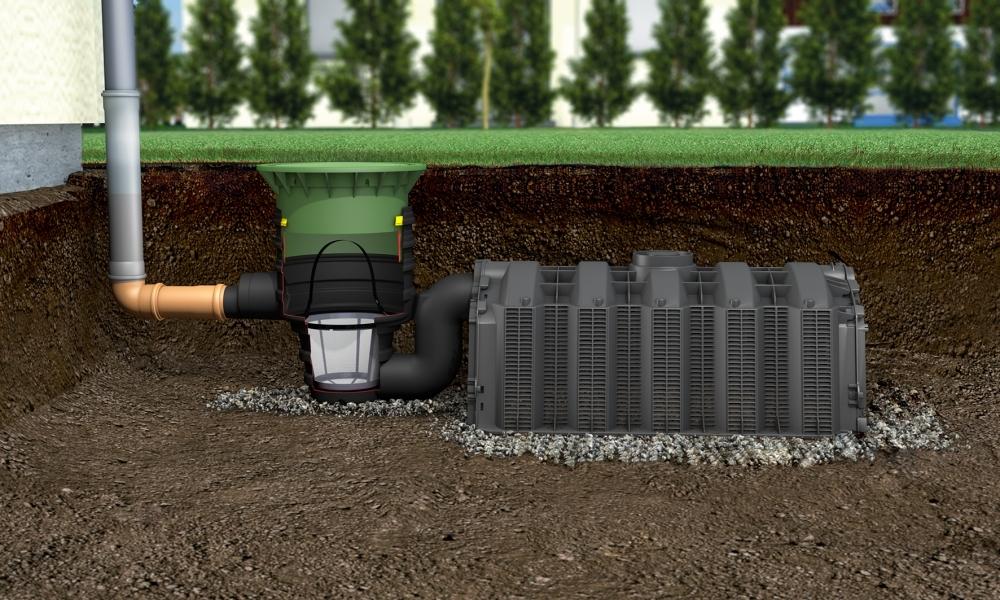 Photo 3 Solution idéale en sortie de trop-plein pour cuve à eau de pluie, en sortie directe des eaux pluviales après un système de filtration ou en sortie de système d'assainissement non collectif. Les tunnels s'installent les uns derrière les autres et permettent une installation quelle que soient les conditions de mise en oeuvre et le volume désiré. Mise en oeuvre simple, rapide et modulable : ne nécessite aucun équipement lourd (un tunnel ne pèse que 11 kg). Garantie 5 ans. - GRAF