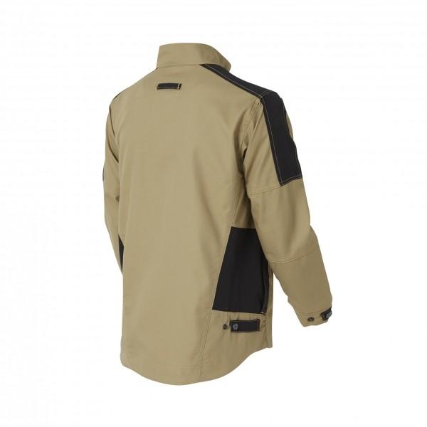 Photo 4 Une veste de travail résistante pour s'adapter à toutes les situations : une valeur sûre pour tous les professionnels. De nombreuses poches fonctionnelles pour ranger smartphone et outils.  Disponible en Beige/Noir et Gris charcoal/Noir - Molinel
