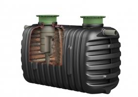 Bizidil GRAF-Fosse toutes eaux 3000 L avec rehausses