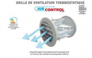 Bizidil FIRSTPLAST-Grille de ventilation thermostatique autonome