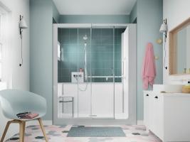 Bizidil KINEDO-Kinemagic,remplacez votre baignoire par une douche