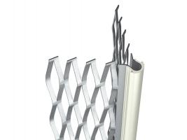 Bizidil PAI-Profil d'angle acier déployé enduit avec jonc